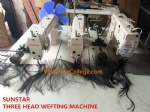 SUNSTAR three head hair weft sewing machine